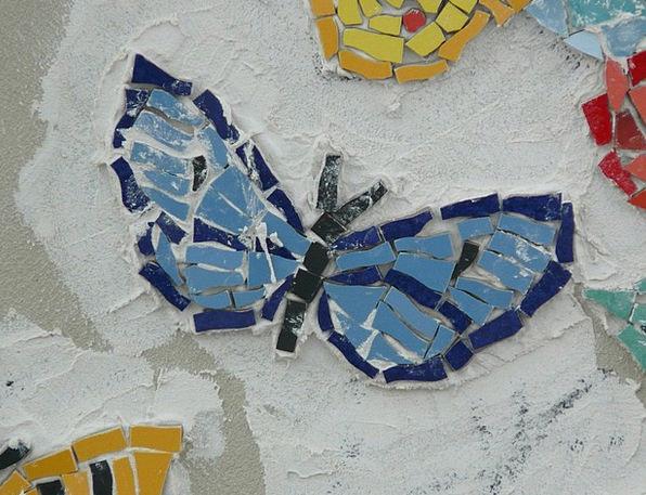 Butterfly Craft Medley Industry Blue Azure Mosaic