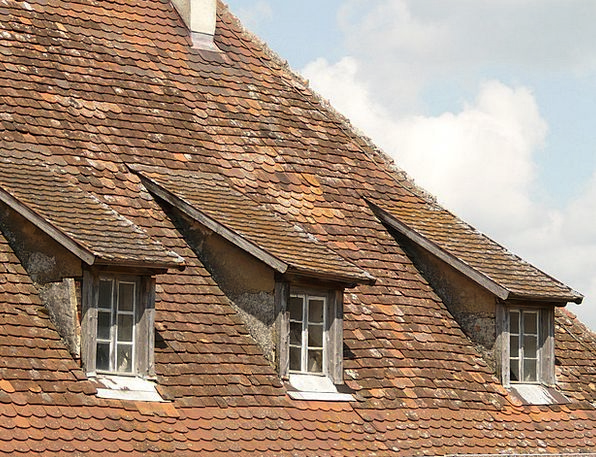 Roof Rooftop Buildings Architecture Window Gap Gab