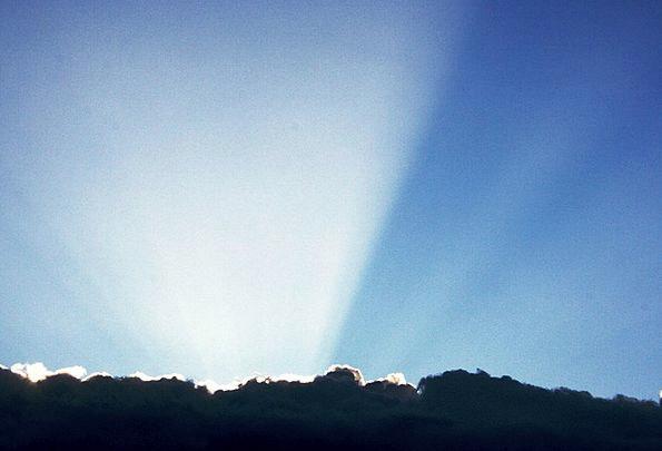 Sun Radiance Hills Knolls Glow Hawaii