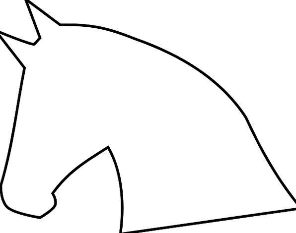 horse head silhouette outline