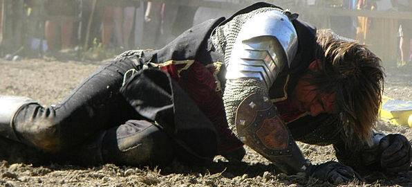 Knight Cavalier Compressed Medieval Feudal Beaten