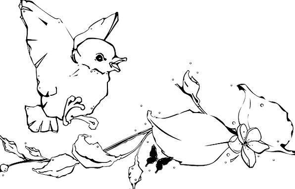 Bird Fowl Snowy Baby Darling White Ground Flying H