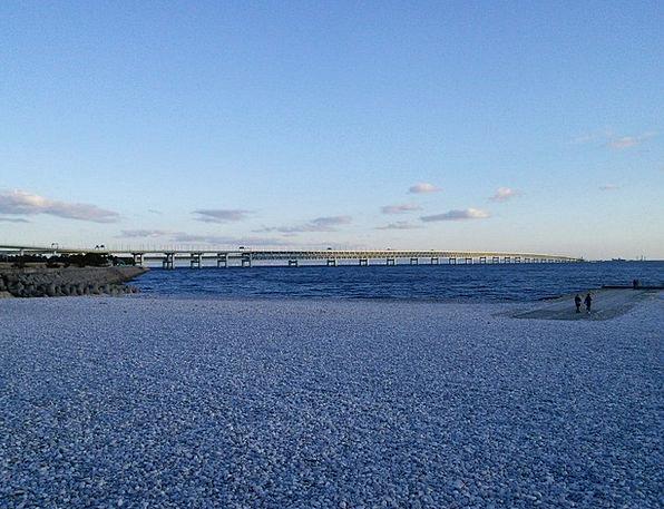 Kansai Airport Access Bridge Seaside Green Space R