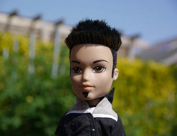 Rocker Fan Toy Punk Inferior Doll Black Shirt Cool