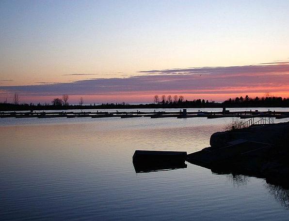 Lake Freshwater Dawn Boathouse Sunrise Clouds Vapo