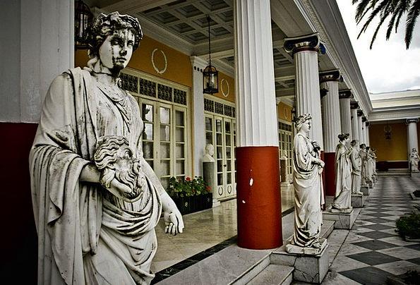 Greek Buildings Figurine Architecture Architecture