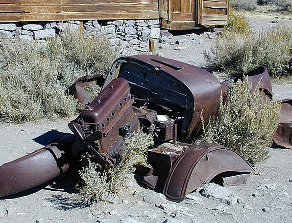 Wreck Crash Old Ancient Car Wreck Rusty Corroded R