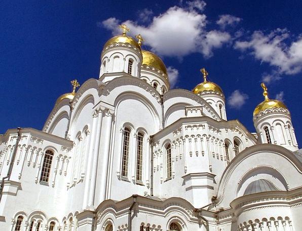 Diveevo Church Ecclesiastical Russia Clouds Orthod