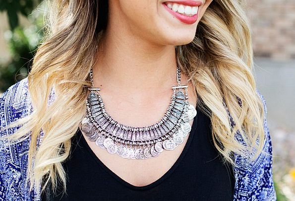 Necklace Chain Fashion Jewels Beauty Silver Gray J