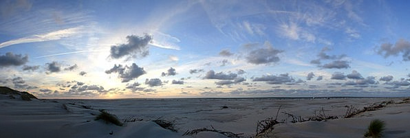 Sunset Sundown Vacation View Travel Amrum Panorama