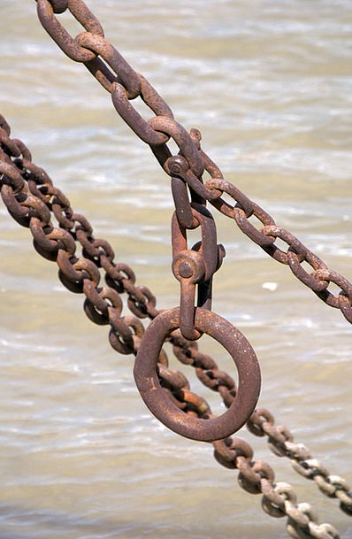 Chain Cable Corrosion Weathered Worn Rust Old Anci