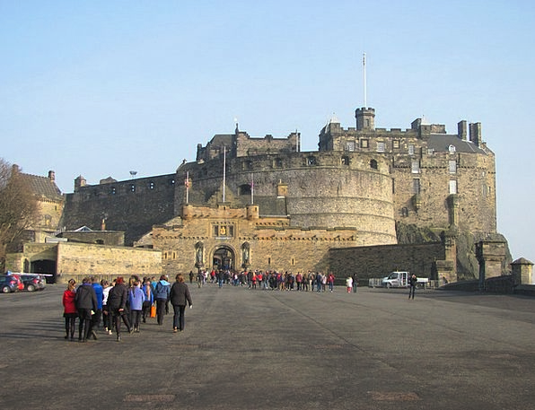 Edinburgh Monuments Places Castle Fortress Scotlan