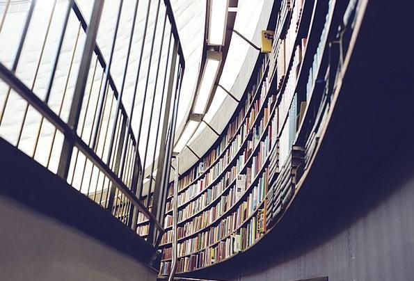 Library Public library Records Bookshelf Books She
