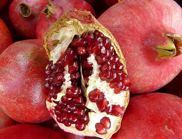 Pomegranate Drink Centers Food Red Bloodshot Cores