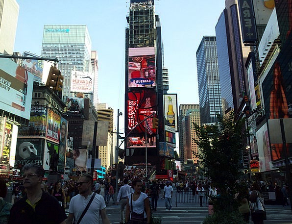 Times Square New York New York City Metropolitan A