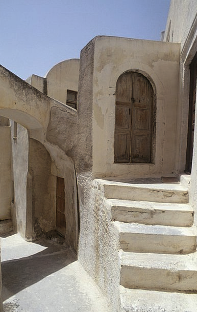 Greece Buildings Structure Architecture Stairs Sta