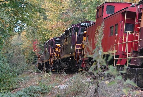 red train traffic pullman transportation track path train
