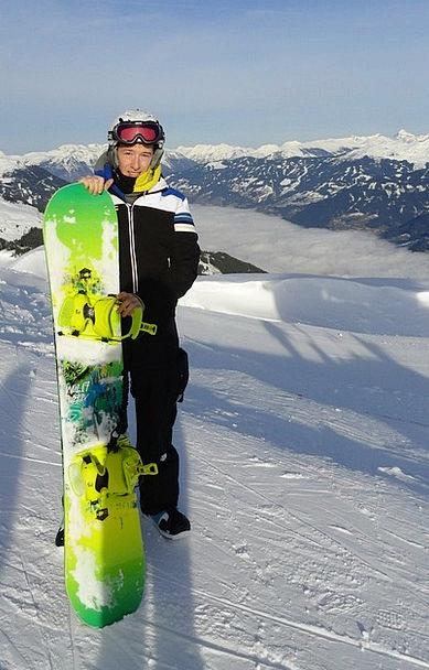 Snowboarders Season Mountains Crags Winter Snowboa