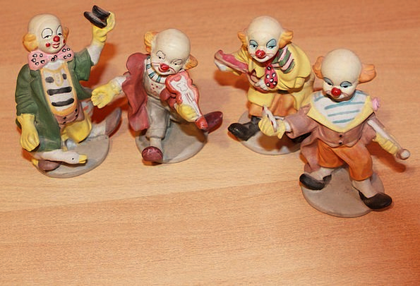 Clowns Jokers Porcelain China Fig Group Collection