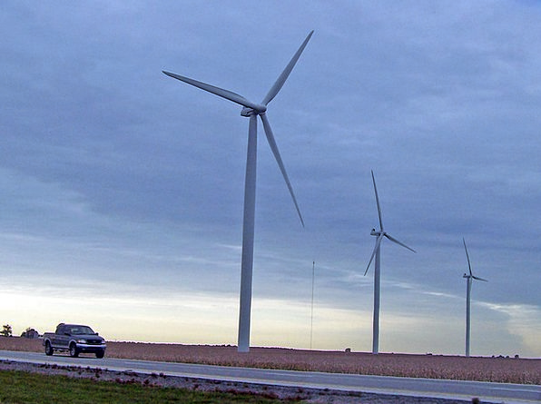 Windmill Traffic Car Transportation Wind Energy Tr