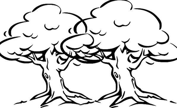 Trees Plants Breeze Cartoon Animation Wind Old Anc