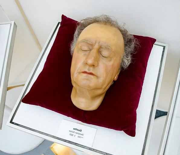 Johann Goethe Wolfgang Death Mask Effigy Wax Museu