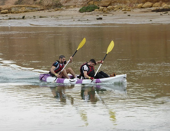 Canoeing Kayaking Paddlers Teamwork Sport Diversio