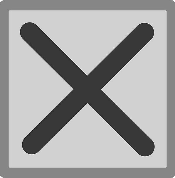 Cross Irritated Container Delete Erase Box Multipl