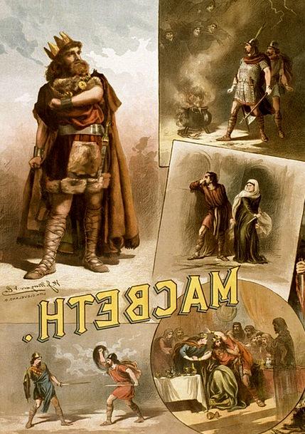 William Shakespeare Poster Picture Macbeth 1884