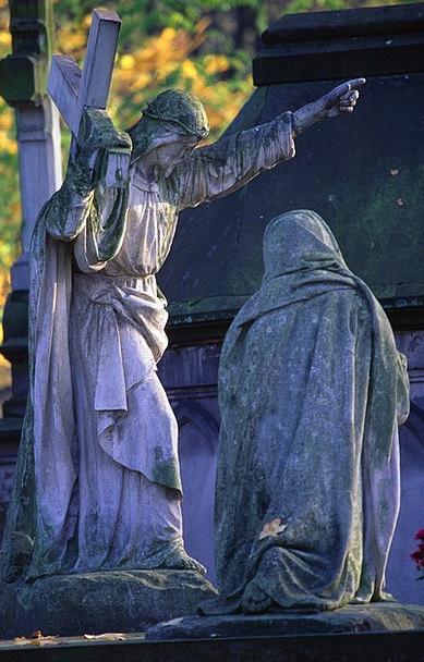 Cemetery Graveyard Buildings Architecture Statues