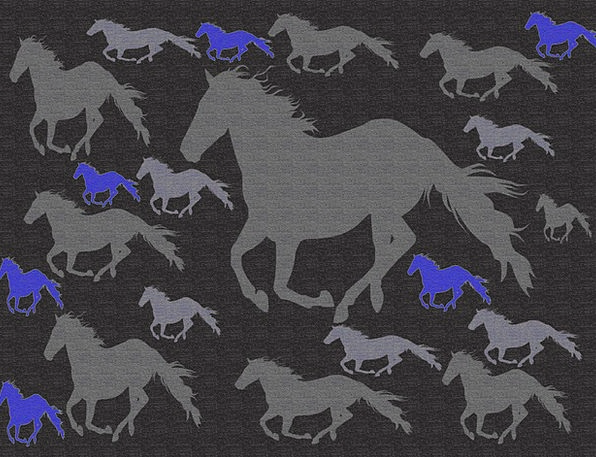 Horses-Galloping Textures Outlines Backgrounds Dig