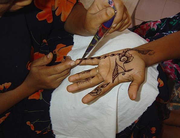 Session Meeting Signal Henna Color Tattoo Hands Po