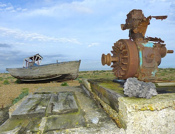 Dungeness England Romney Marsh Winch Kent Leave So