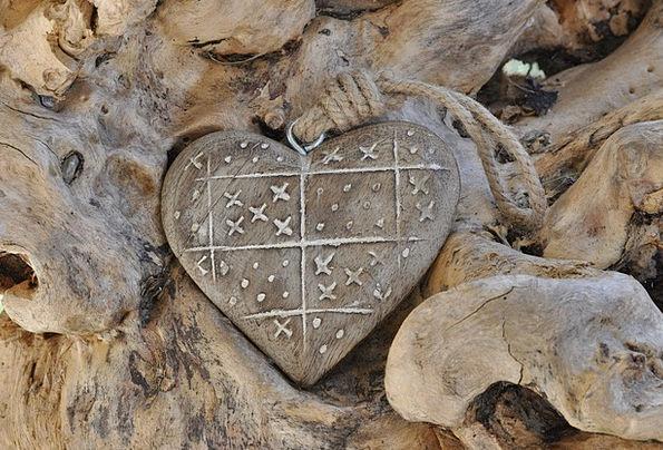 Heart Emotion Landscapes Timber Nature Root Origin