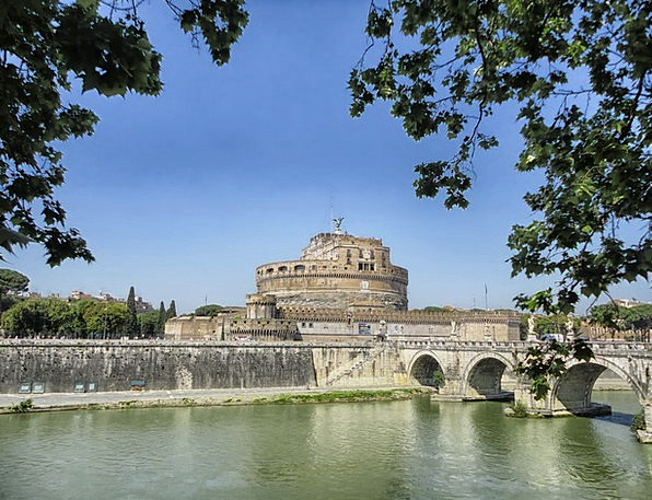 Rome Buildings Architecture Castle Fortress Italy