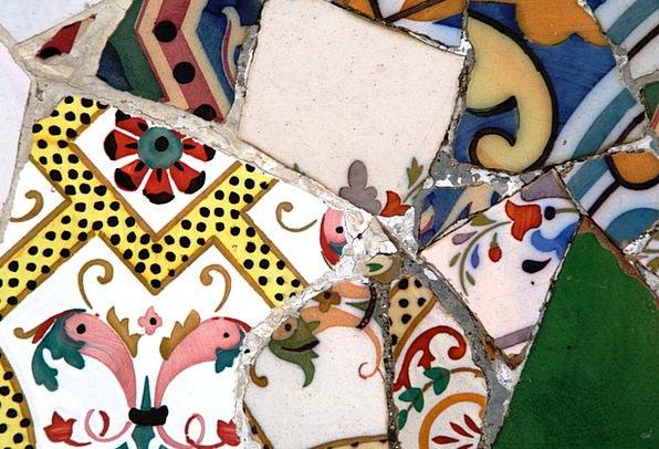 Tile Inlay Tiles Slates Trencadís Gaudí Colors Mod