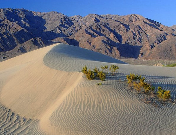 Dunes Banks Reward Death Valley Desert Usa Hot Cal