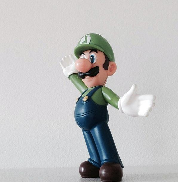 Luigi Character Charm Mario Figure Number Toys Dol