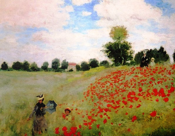 Painting Image Klatschmohn Claude Monet Argenteuil