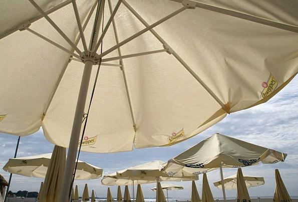 Parasols Sunshades Vacation Seashore Travel Baltic
