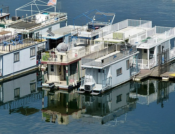 House Boats Buildings Freshwater Architecture Wate