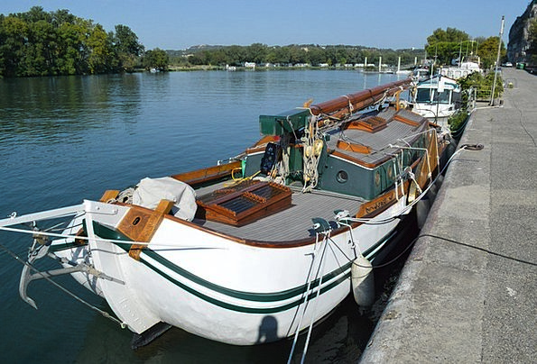 Boat Ship Landscapes Stream Nature Nature Countrys