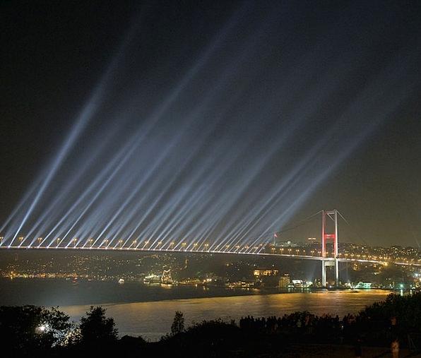 Bridge Bond Night Nightly Bosphorus Bridge Light B