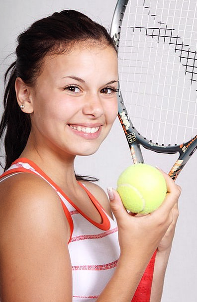 Tennis Sporting Girl Lassie Sports Play Fitness Su