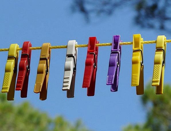 Clothespins Dry Thirsty Clothes Line Klämmerchen S