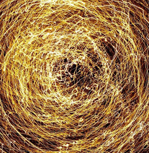 Light Bright Whirlpool At Night Late Vortex Night