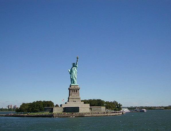 Statue Of Liberty Sky Blue New York Manhattan