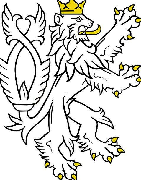 Rampant Lush Heraldry Lion Scottish Scotland Coat