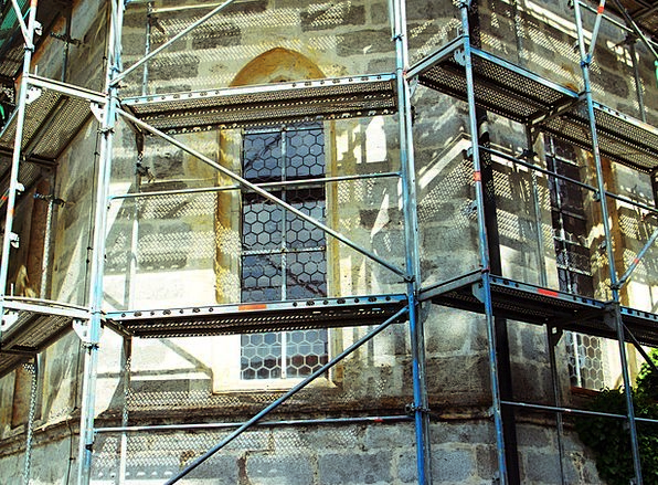 Construction Buildings Architecture Scaffolding Su