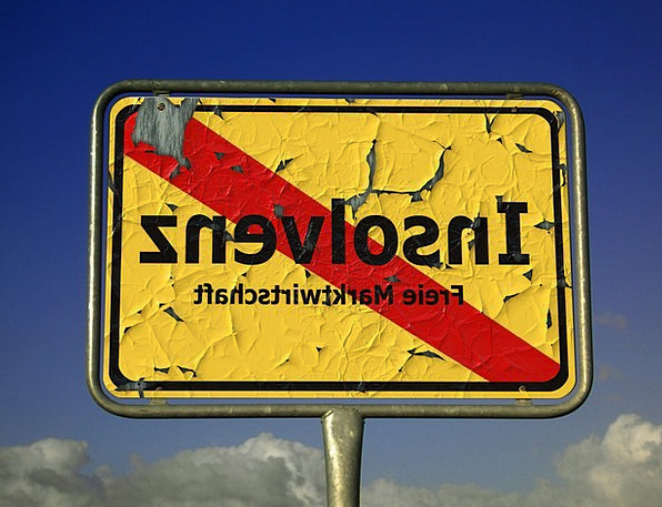 Insolvency Bankruptcy Protection Town Sign Shield